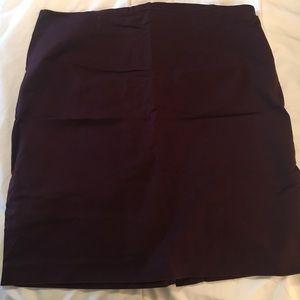 Merlot pencil skirt